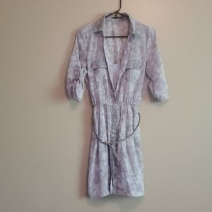 Maurices Gray Watercolor Dress